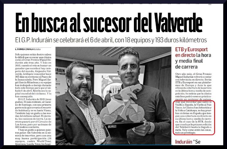Presentación  GP  Miguel  Indurain  en  el  Diablo  de  Navarra:  Lo  que  no  aparece,  no  existe