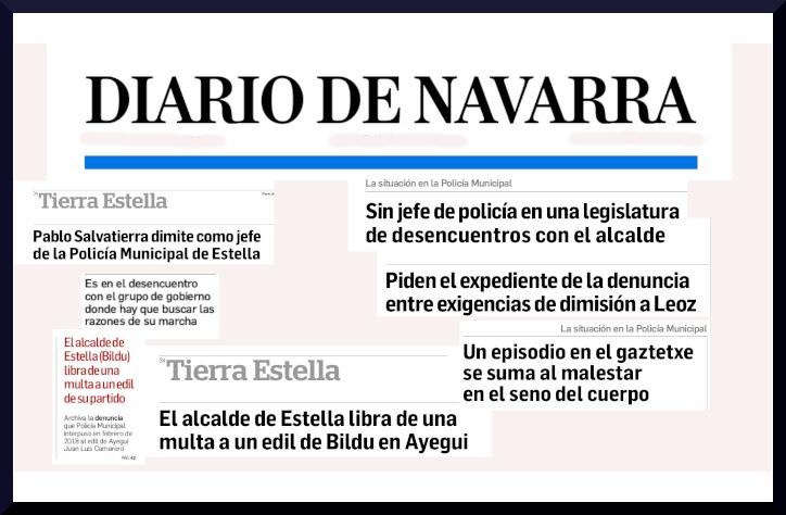 El Diablo de Navarra en permanente campaña contra la alcaldía del cambio en Estella-Lizarra