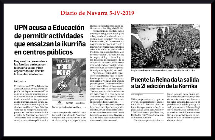 Diario de Navarrak korrika bera ixilarazi nahi izan zuenekoa