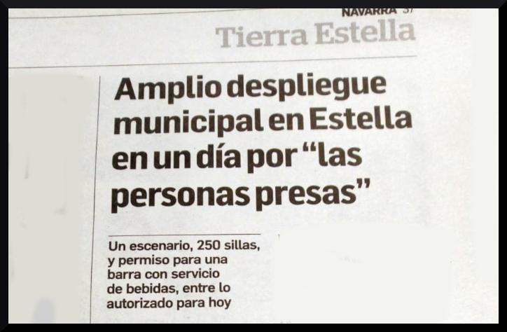 Lizarra:  Polemizando  con  la  cesión  de  materiales  municipales