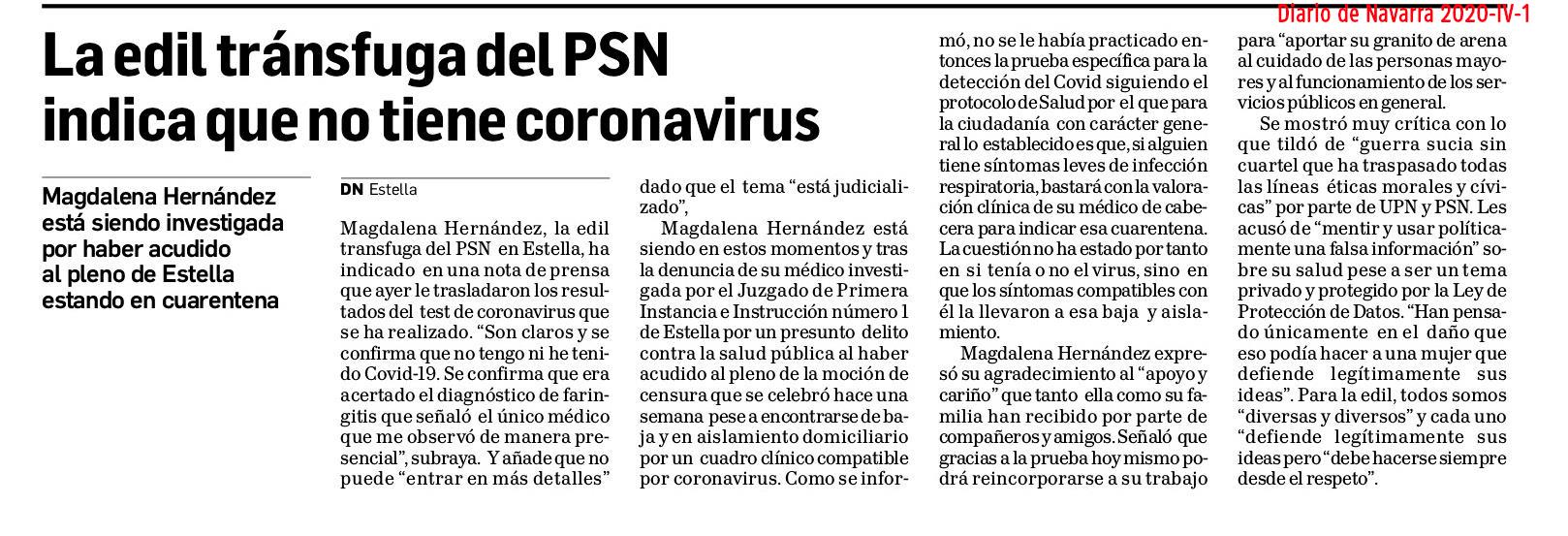 Diario de Navarra ni informa ni rectifica